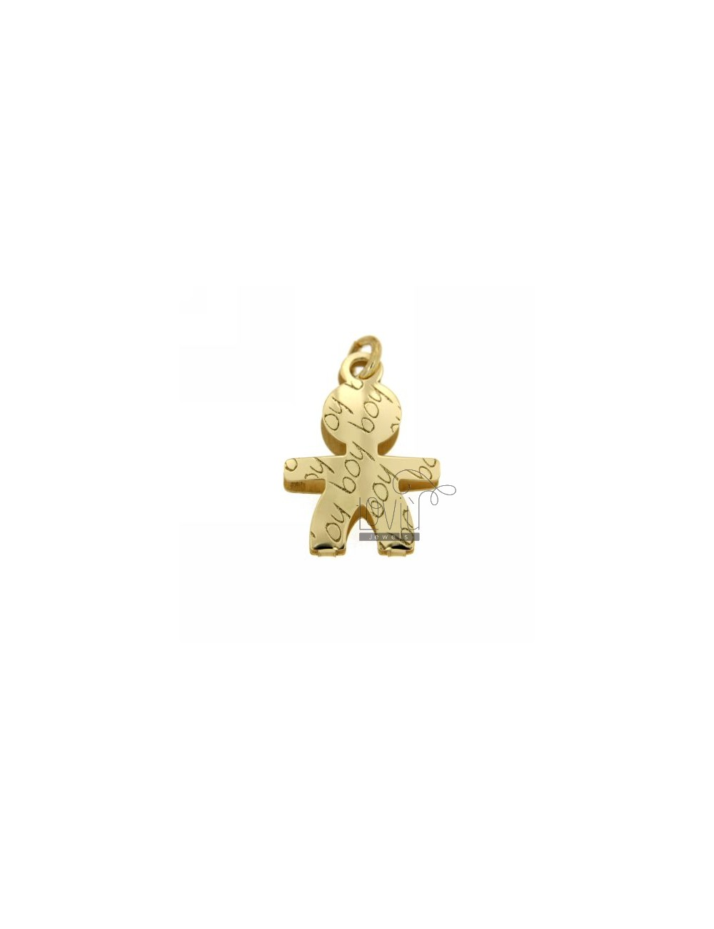 BABY BOY PENDANT IN YELLOW GOLD PLATED AG TIT 925