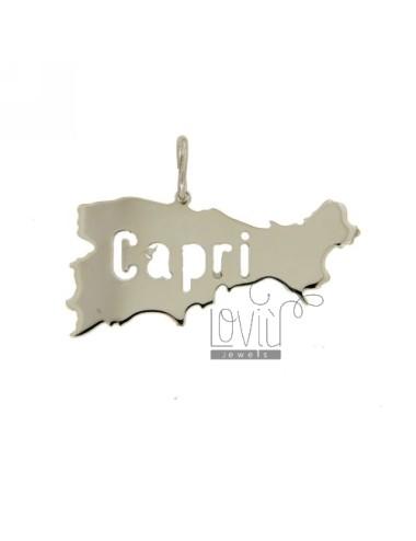 CAPRI ISLAND CHARM LASER CUTTING MM 17X37 SILVER 925
