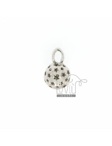CALL ANGELS PENDANT 11 MM WITH STARS IN perforated AG RODIATO TIT 925 ‰