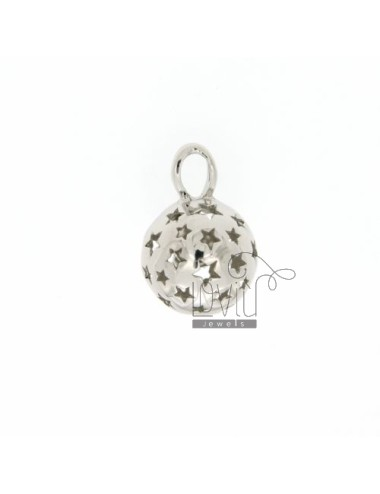 CALL ANGELS PENDANT 14 MM WITH STARS IN perforated AG RODIATO TIT 925