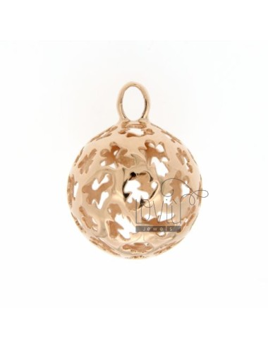 CALL ANGELS PENDANT 23 MM WITH ANGELS IN PERFORATED AG PLATED ROSE GOLD 925 ‰ TIT