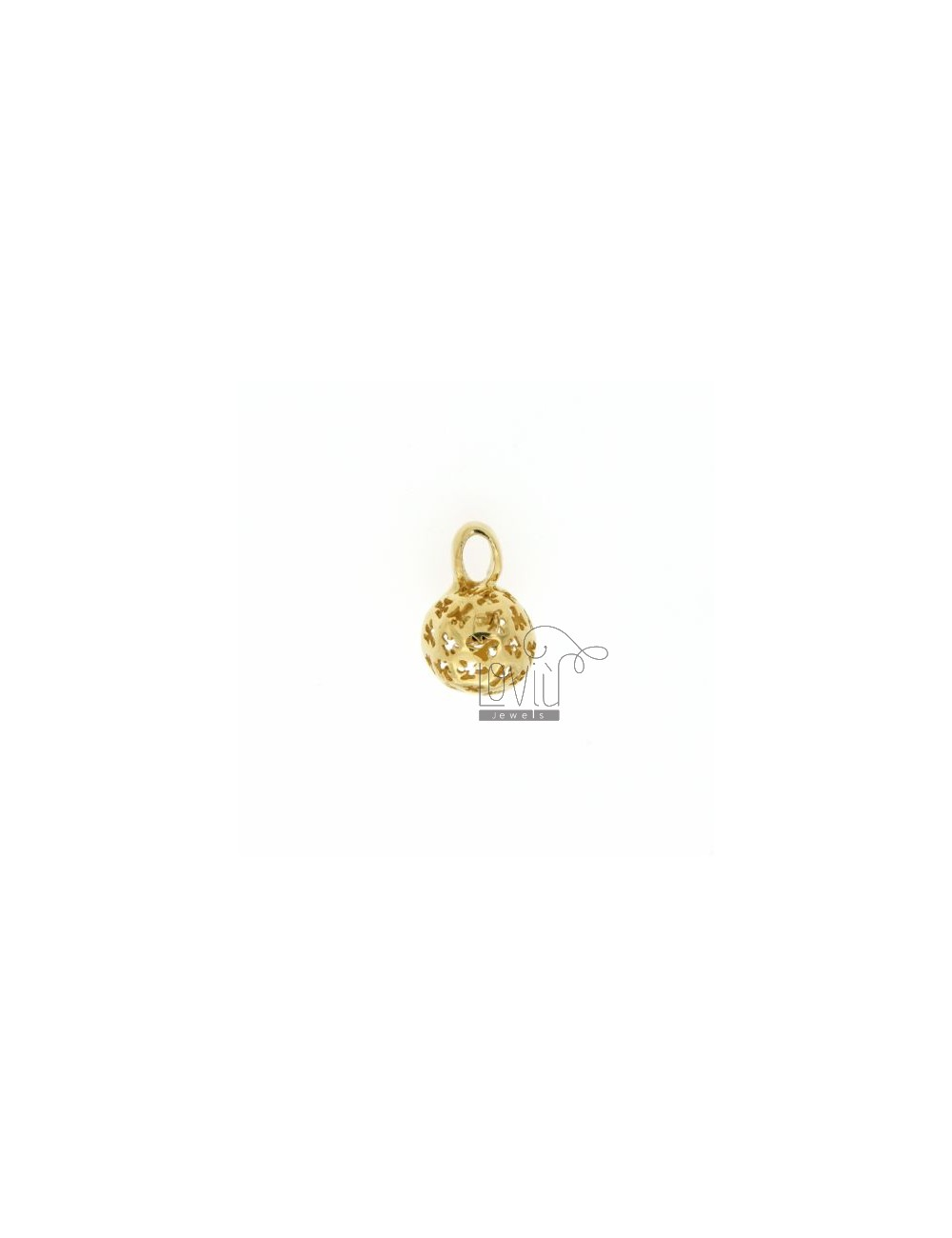 CALL ANGELS PENDANT 11 MM WITH ANGELS IN PERFORATED AG GOLD PLATED TIT 925