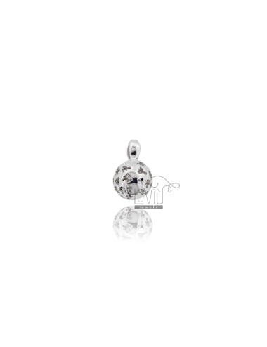 CALL ANGELS PENDANT 11 MM WITH ANGELS IN PERFORATED AG RODIATO TIT 925 ‰