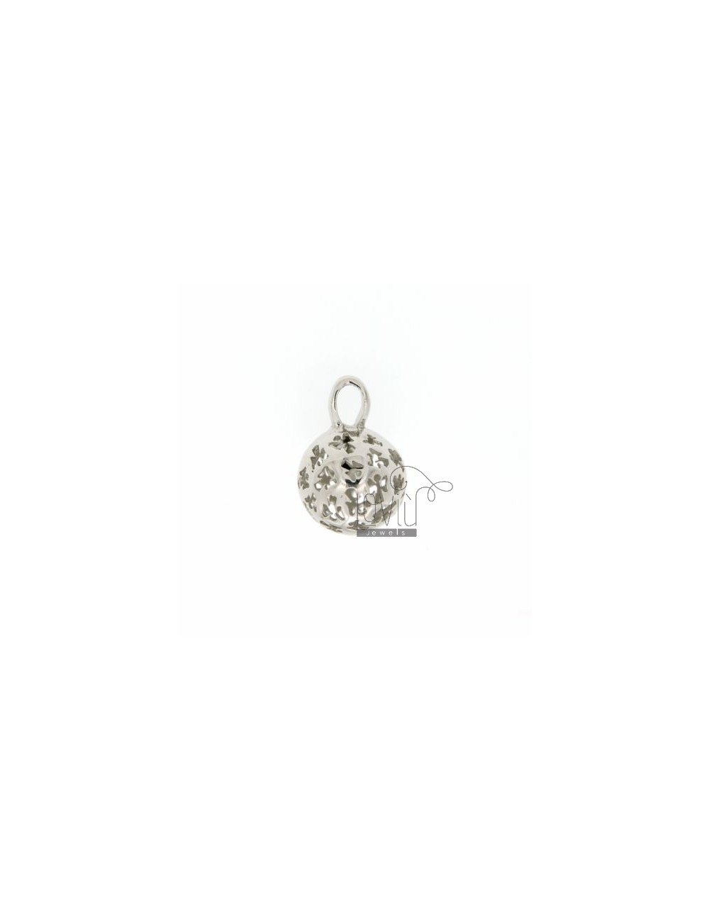 CALL ANGELS PENDANT 14 MM WITH ANGELS IN PERFORATED AG RODIATO TIT 925