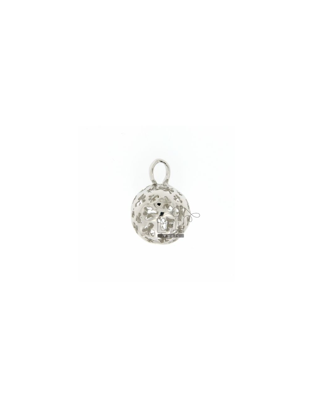 CALL ANGELS PENDANT 18 MM WITH ANGELS IN PERFORATED AG RODIATO TIT 925