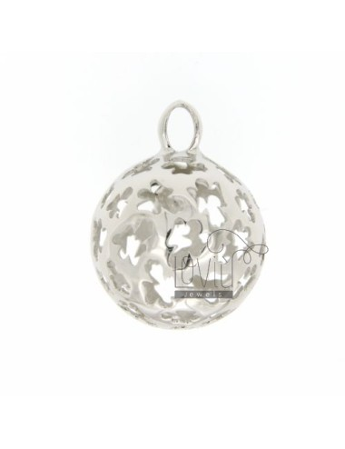 CALL ANGELS PENDANT 23 MM WITH ANGELS IN PERFORATED AG RODIATO TIT 925