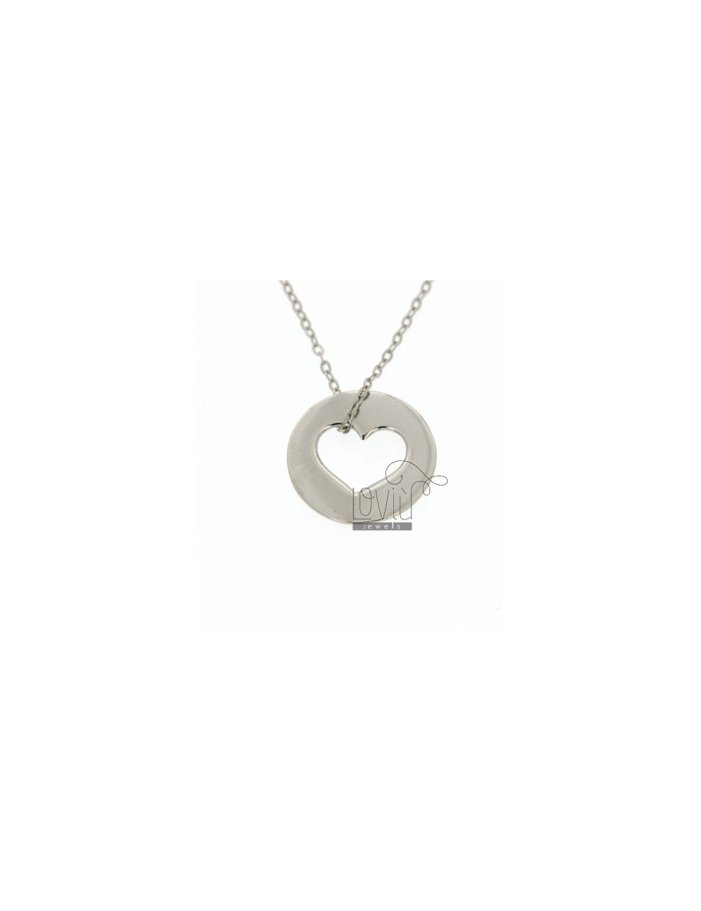 COLLIER HEART IN CIRCLE IN TIT AG 925