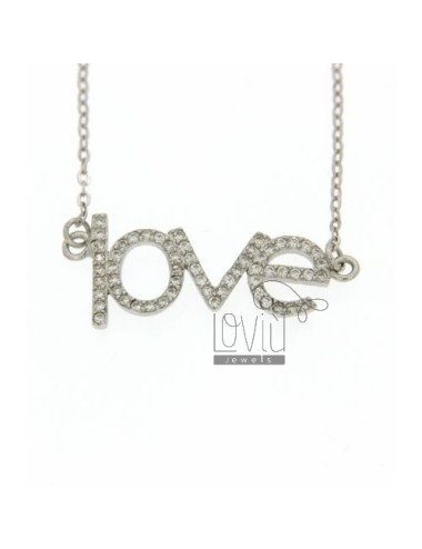 COLLIER LOVE IN AG TIT 925‰...