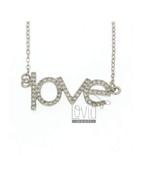 COLLIER IN LOVE AG TIT 925 ‰ EZIRCONI