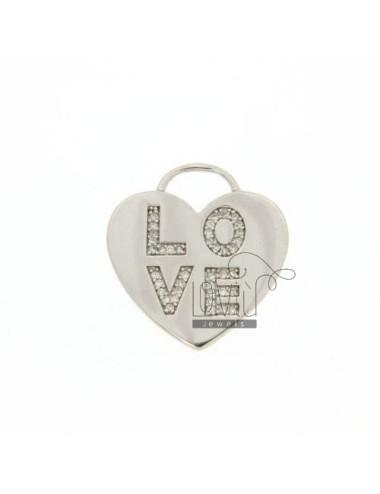 LOVE HEART PENDANT IN TIT...