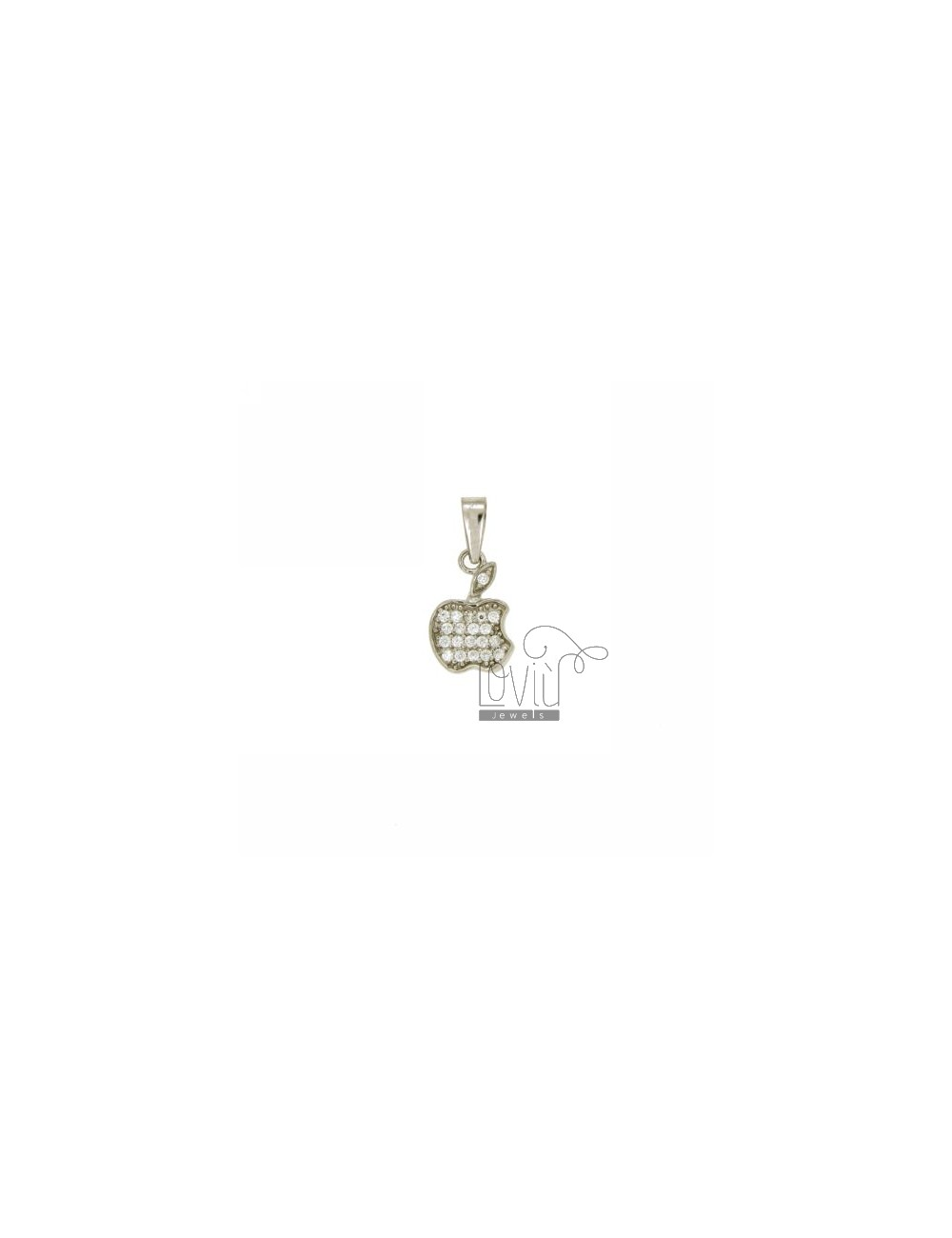 Pendant APPLE VICE 14x9 MM IN AG TIT 925 ‰ AND ZIRCONIA
