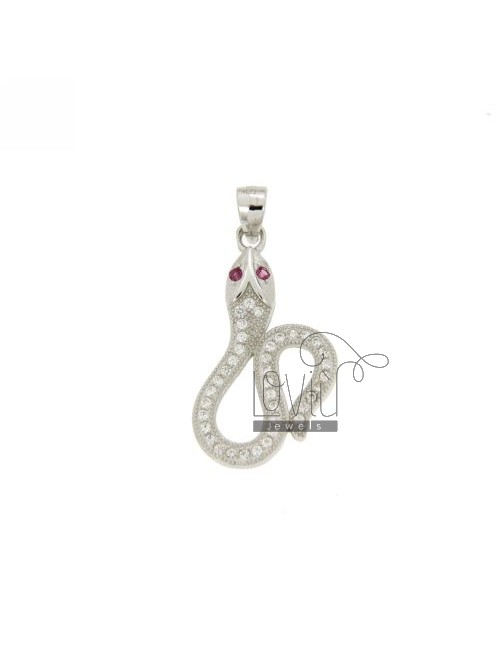 PENDANT SNAKE IN TIT AG 925 AND ZIRCONIA