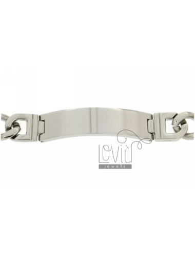 BRACELET WITH STEEL PLATE 12 MM AND CHAIN &8203&8203GRUMETTA