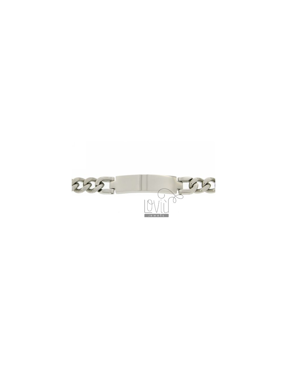 GRUMETTA STEEL BRACELET WITH PLATE 10 MM