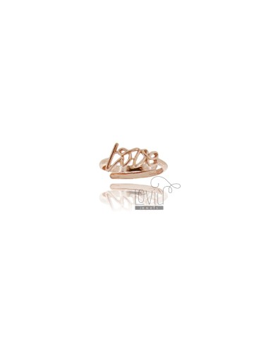 ADJUSTABLE RING IN LOVE ROSE GOLD PLATED AG TIT 925 ‰