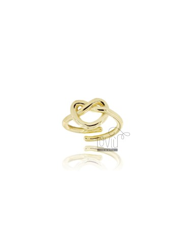 RING ADJUSTABLE KNOT IN GOLD PLATED AG TIT 925 ‰