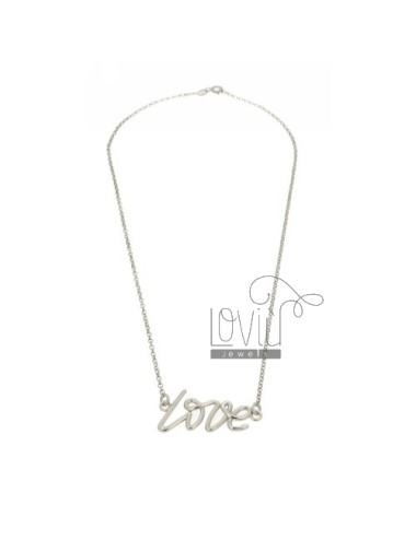 COLLIER MM 35X16 ABOUT LOVE IN RHODIUM AG TIT 925 ‰ 45 CM