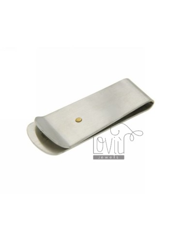 MONEY CLIPS IN STAINLESS STEEL WITH DOT GOLD PLATED