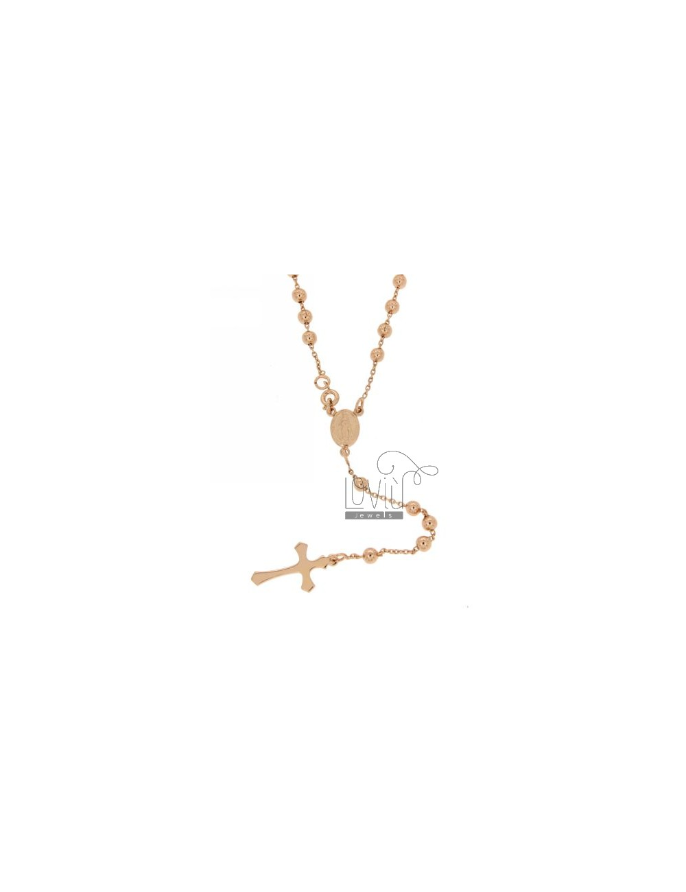 CHAPLET 4 MM STEEL ROSE GOLD PLATED 50 CM