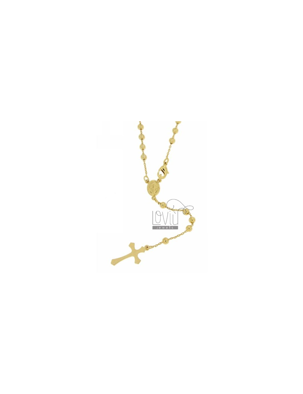 CHAPLET 4 MM STEEL GOLD PLATED 50 CM
