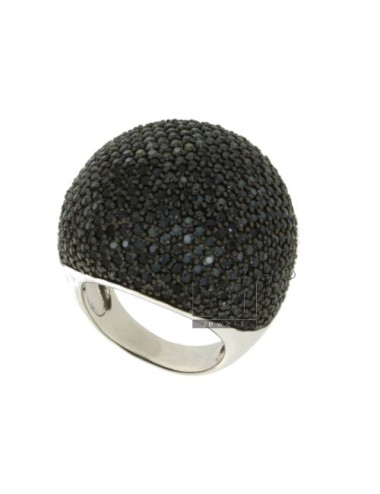 PAVE 'DOME RING IN AG TIT...
