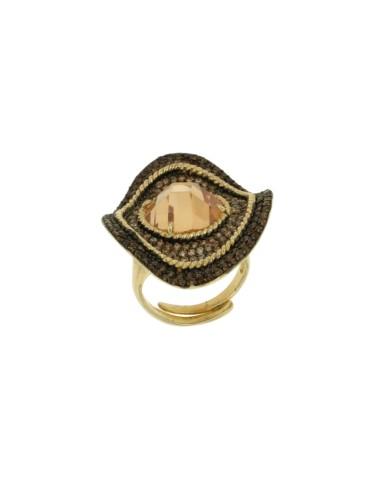 Wavy oval ring mm 3,5 x2, 8...