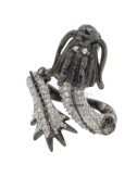 RING IN THE DRAGON AG PLATED RUTENIO TIT 925 ‰ AND ZIRCONIA SIZE ADJUSTABLE bianchii