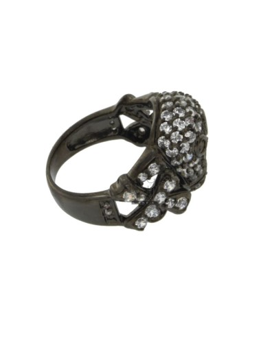 SKULL RING IN SILVER PLATED...