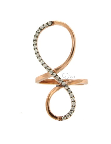 INFINITE LOOP IN ROSE GOLD PLATED AG 925 TIT AND ZIRCONIA SIZE 18