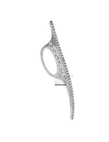 RING TENNIS HARD CM IN 6 AG RHODIUM 925 TIT AND ZIRCONIA WHITE SIZE 14