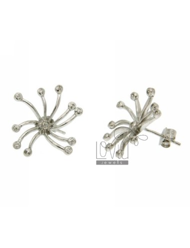 ZIRCONIA EARRINGS WITH A BOW IN RHODIUM AG TIT 925