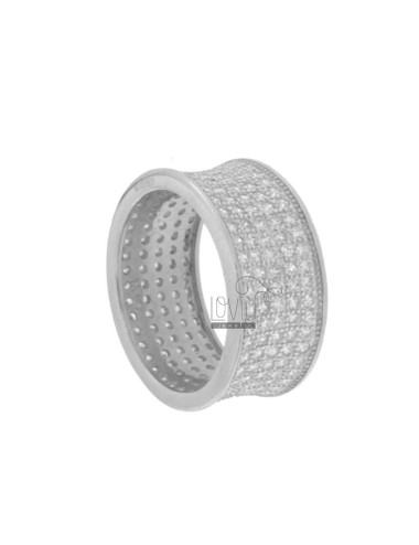 RING BAND 10 MM TO 5 TURNS IN ZIRCONIA AG RHODIUM TIT 925 ‰ SIZE 12
