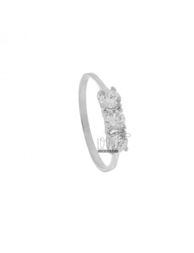 TRILOGY RING WITH CUBIC...