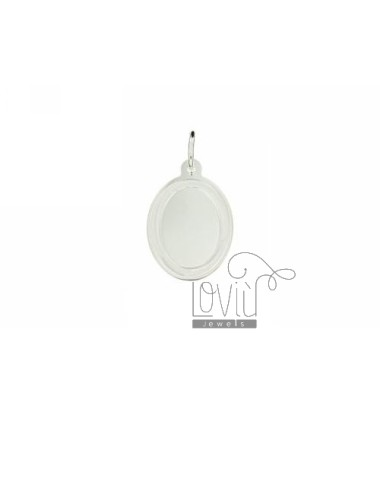 PENDANT OVAL 23x16 MM PLATE 0.6 MM SILVER TITLE 925 ‰