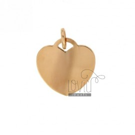 HEART PENDANT 22 MM THICKNESS 0.8 MM IN AG TIT 925 ROSE GOLD PLATED