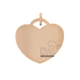 HEART PENDANT 28 MM THICKNESS 0.8 MM IN AG TIT 925 ROSE GOLD PLATED