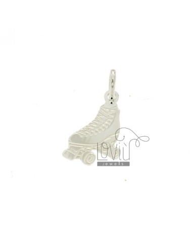 A BOOT SHOE CHARM LASER CUTTING MM 33X17 SILVER TITLE 925