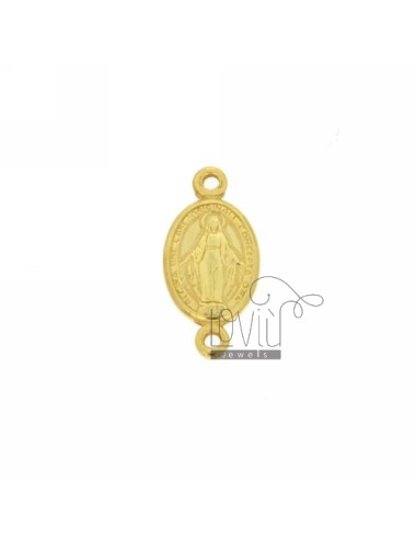 MADONNINA MIRACULOUS OVAL 09X07 MM BUT WITH 2 TRAMEZZO MAGLINE AG GOLD PLATED WELDED IN TIT 925