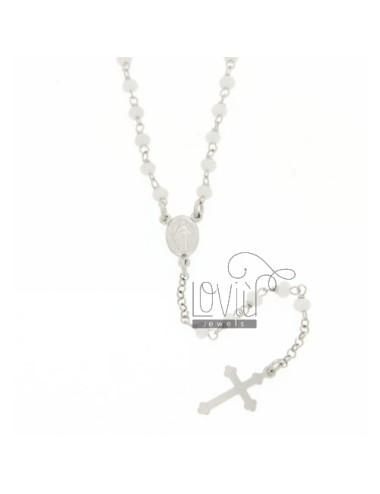 Collana rosario con pietre...