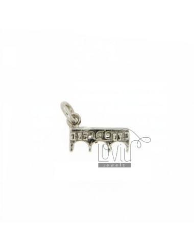 MONUMENT IN OLD BRIDGE CHARM RHODIUM AG casting TIT 925 ‰