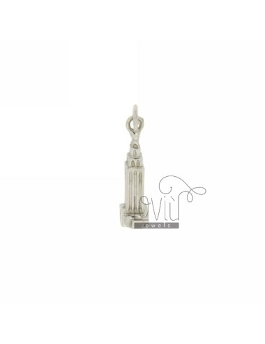 PENDANT MONUMENT EMPIRE STATE BUILDING IN RHODIUM AG casting TIT 925 ‰