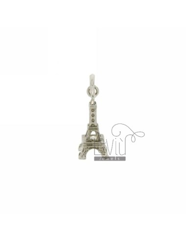 MONUMENT IN EIFFEL TOWER NECKLACE RHODIUM AG casting TIT 925 ‰