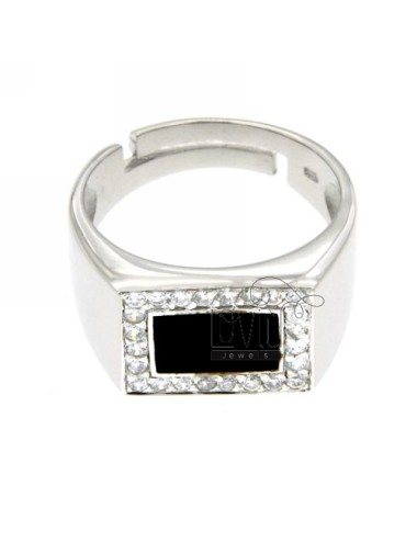 14x12 mm square ring with...