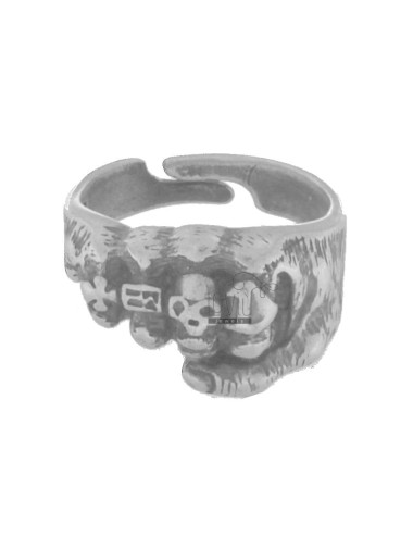 RING RINGS IN HAND WITH AG BRUNITO TIT 925 SIZE ADJUSTABLE