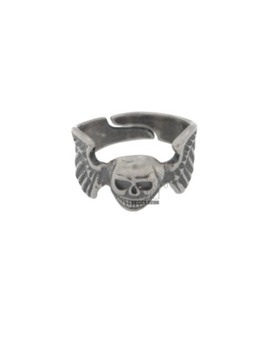 RING SKULL AND WINGS IN AG BRUNITO TIT 925 SIZE ADJUSTABLE
