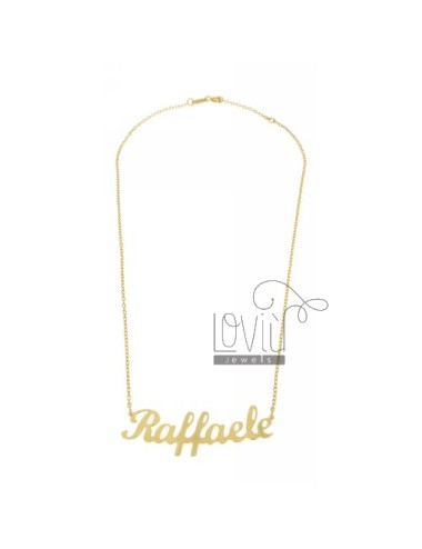ROLO NECKLACE WITH NAME IN...
