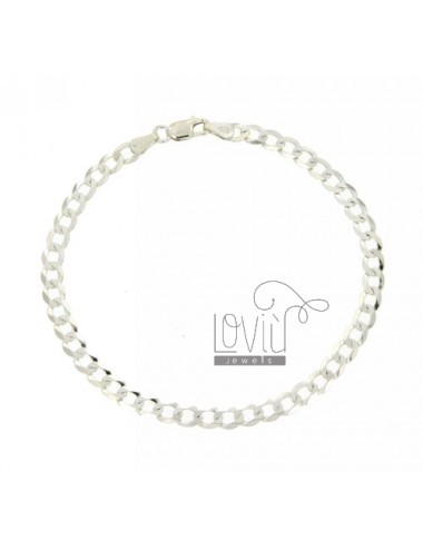 SLIM GRUMETTINA BRACELET MM 4 CM 19 IN SILVER 925 ‰
