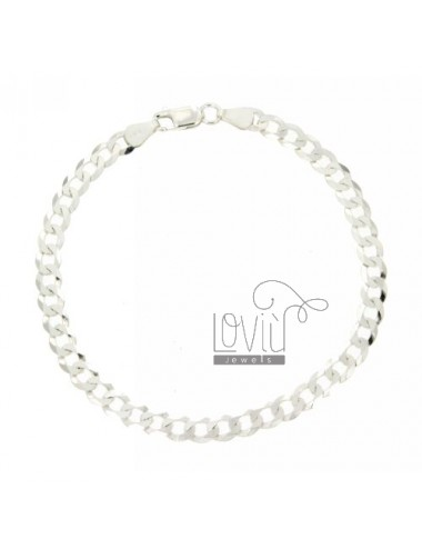 GRUMETTINA SLIM 5 MM BRACELET 21 CM SILVER 925 ‰