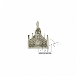 PENDANT MONUMENT IN MILAN CATHEDRAL AG casting RHODIUM TIT 925