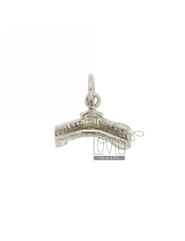 PENDANT MONUMENT RIALTO BRIDGE IN RHODIUM AG casting TIT 925